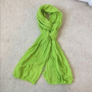 Lime Green Scarf